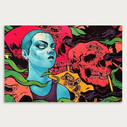 Tina St Claire x Dereck Seltzer Original Art - Heroine
