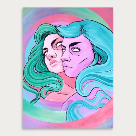 T.S. Claire Original Art - Twins Process 01