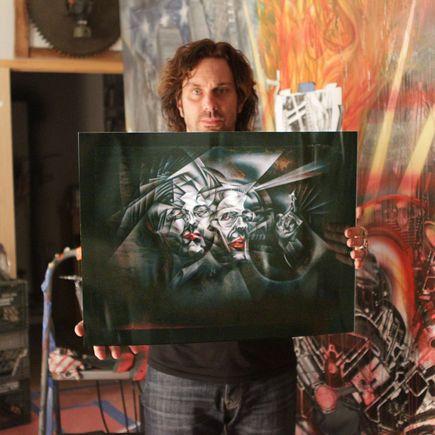Tom Thewes Art Print - BADguys - Metal Edition