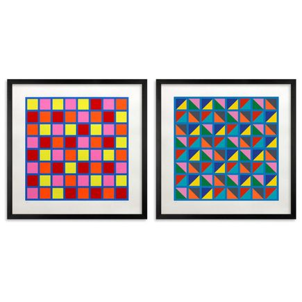 Tony Clough Art Print - Rotations #1 & #2 - Two Print Set - Framed