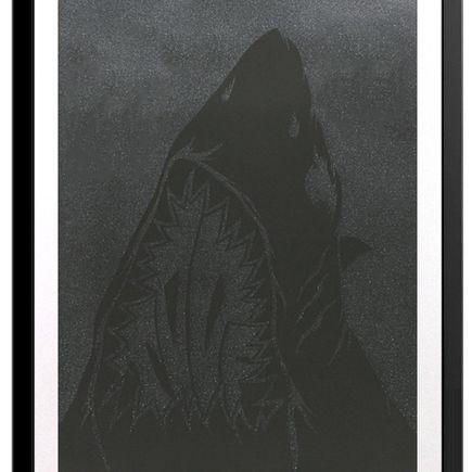 Shark Toof Art - Shark Toof Icon - Black On Black Edition