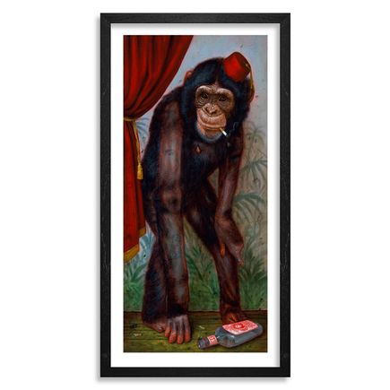 Turf One Art Print - The Smoking Chimp - 12 x 24 Inch Edition