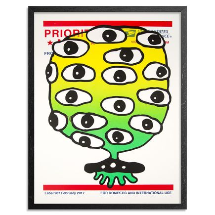 UFO 907 Art Print - Label 907 - Green Variant
