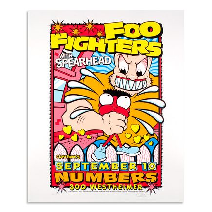 Uncle Charlie Art - Foo Fighters - September 10, 1995 at Numbers
