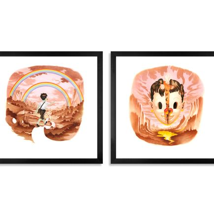 Victor Castillo Art Print - Flying High & Planeta Infierno - Two Print Set