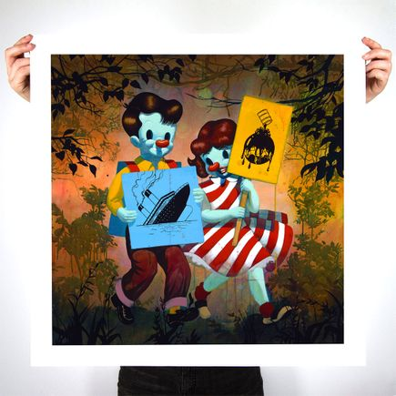 Victor Castillo Art Print - They Do Not Own Us - 24 x 24 Inch Edition