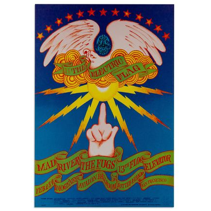 Victor Moscoso Art - The Electric Flag at Avalon Ballroom - February 1966