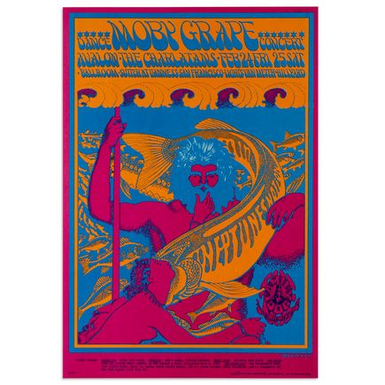 Victor Moscoso Art - Moby Grape Dance Concert at Avalon Ballroom - February 1967