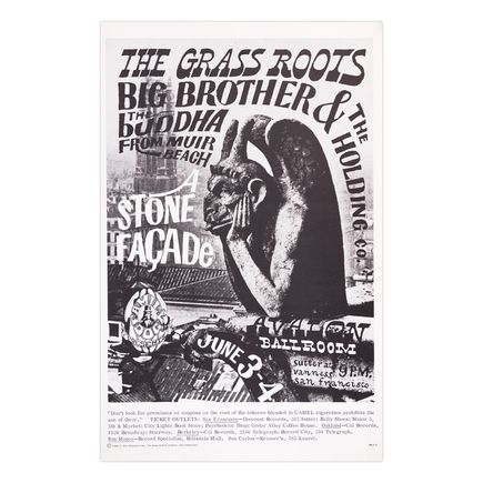 Victor Moscoso Art Print - The Grass Roots - Avalon Ballroom - 1966