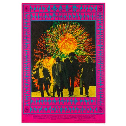 Victor Moscoso Art - Siegel Schwall Band at Avalon Ballroom - July 1967