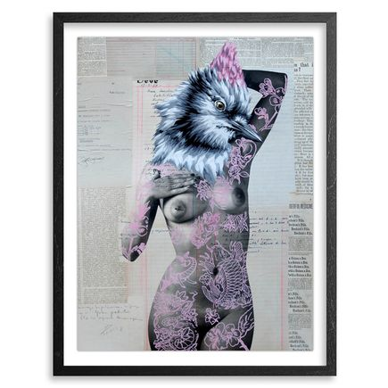 Vinz Hand-painted Multiple - The Tattooed Girl - Especial Edition 01 - Mixed Media Multiple