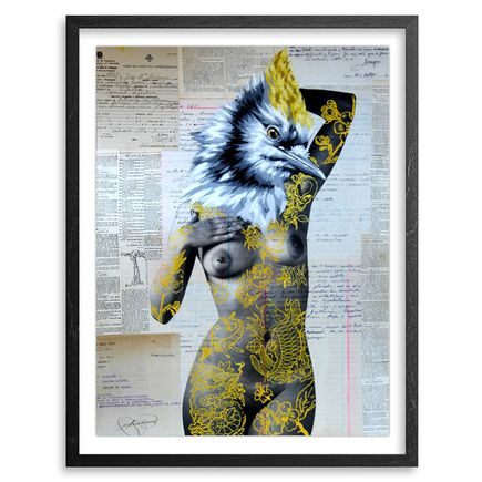 Vinz Hand-painted Multiple - The Tattooed Girl - Especial Edition 02 - Mixed Media Multiple