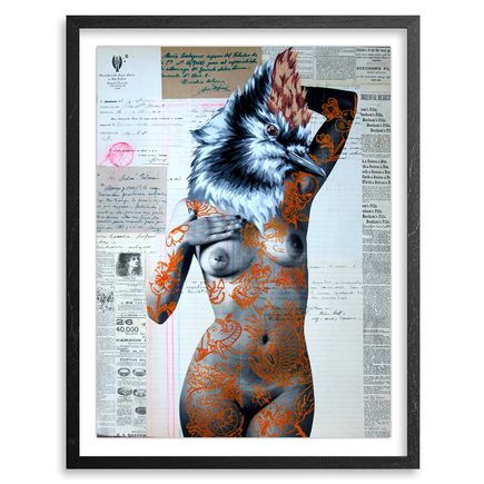 Vinz Hand-painted Multiple - The Tattooed Girl - Especial Edition 04 - Mixed Media Multiple