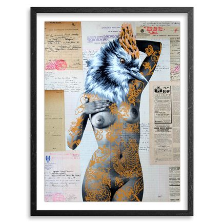 Vinz Hand-painted Multiple - The Tattooed Girl - Especial Edition 05 - Mixed Media Multiple