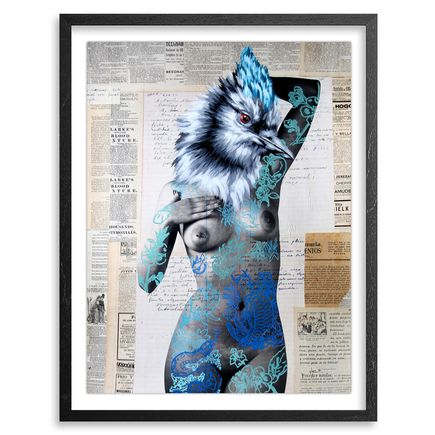 Vinz Hand-painted Multiple - The Tattooed Girl - Especial Edition 07 - Mixed Media Multiple