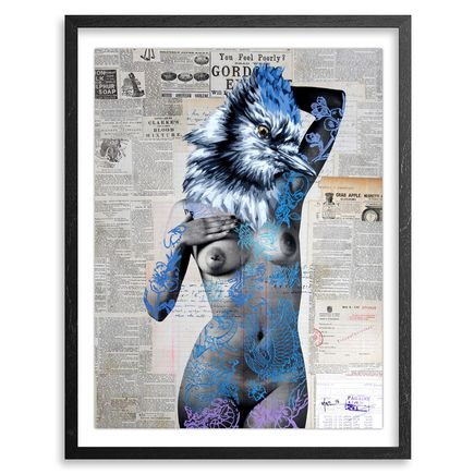 Vinz Hand-painted Multiple - The Tattooed Girl - Especial Edition 08 - Mixed Media Multiple