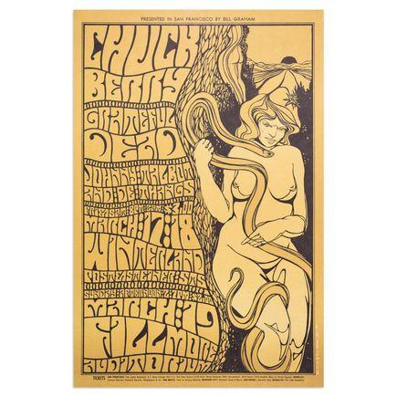 Wes Wilson Art Print - Grateful Dead - Chuck Berry - 1968 - Carousel Ballroom