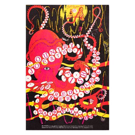 Wilfred Weisser Art Print - Country Joe & The Fish - Fillmore - 1968