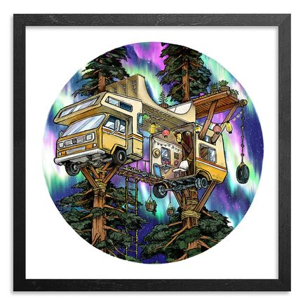 Wooden Wave Art Print - Vanagon Treehouse