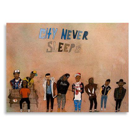 Yarrow Slaps Original Art - City Never Sleeps - Original Artwork