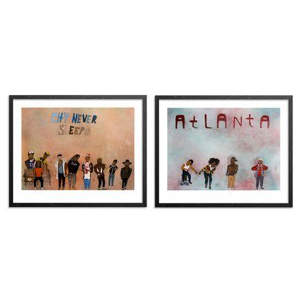 Yarrow Slaps Art Print - Atlanta + City Never Sleeps - 2-Print Set