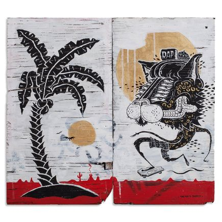 Sheryo & The Yok Original Art - Tropical Panther Cat