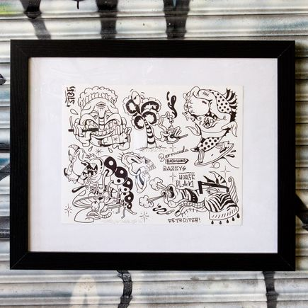 Sheryo & The Yok Original Art - Tattoo Flash Sheet 18