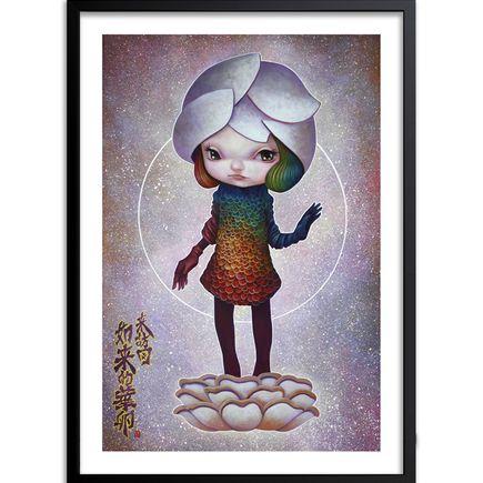 Yosuke Ueno Art Print - Girl Floweregg Like a Buddha Style