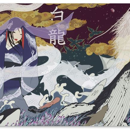 Yumiko Kayukawa Original Art - White Dragon - Original Painting