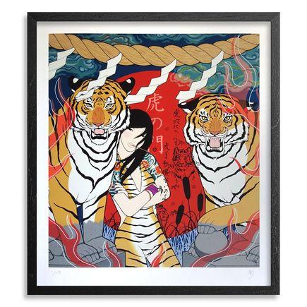 Yumiko Kayukawa Art Print - Tiger Gate - Hand-Embellished Edition