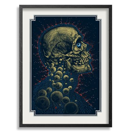 Zeb Love Art Print - New Age - White Edition - Framed