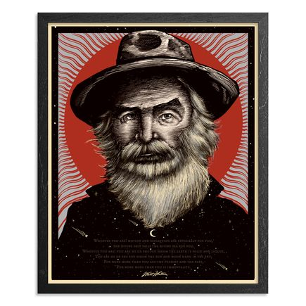 Zeb Love Art Print - Walt Whitman - Red Variant