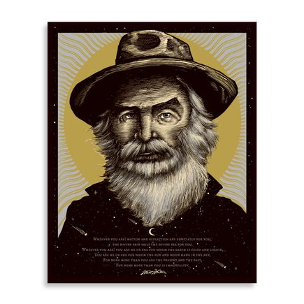Zeb Love Art Print - Walt Whitman - Wood Variant