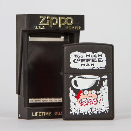 Zippo Art - Shannon Wheeler - Too Much Coffe Man Lighter